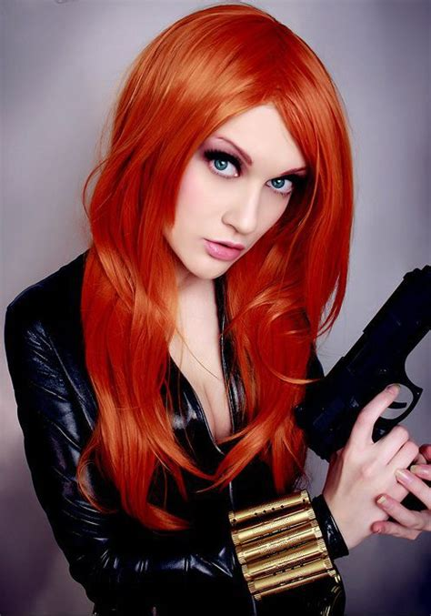 Busty Girls in the Black Widow Costumes (21 pics