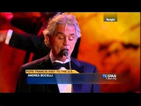"""Andrea Bocelli """"The Lord's Prayer"""" Pope Francis"""