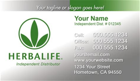 Herbalife Business Cards - Free Shipping and Design   No
