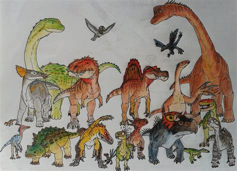 The great family of Dinosaurs by ZeWqt on DeviantArt