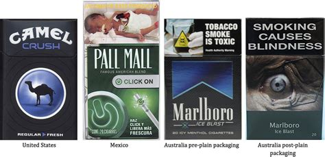 Cigarette brands with flavour capsules in the filter