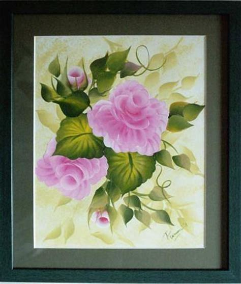 One Stroke Painting-roses Painting by Kalasiddhii Art