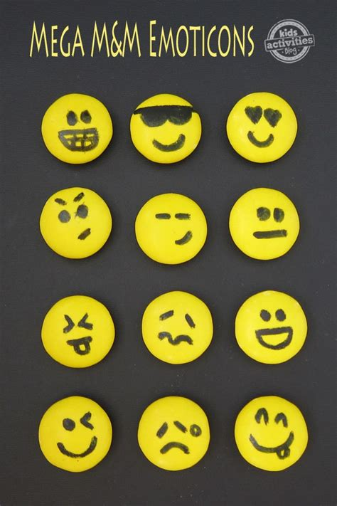 MEGA M&M EMOTICONS - Kids Activities