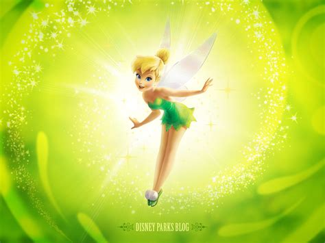 Tinker Bell Cartoon Disney Fairy Green Desktop Hd