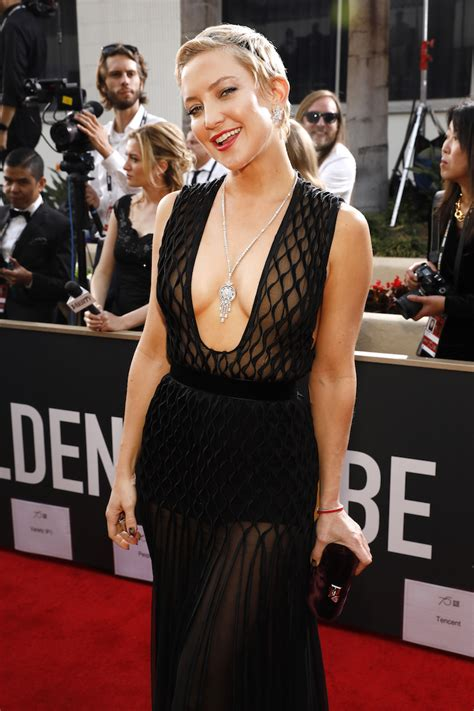 Kate Hudson And Her Boobs Hung Out At The Globes