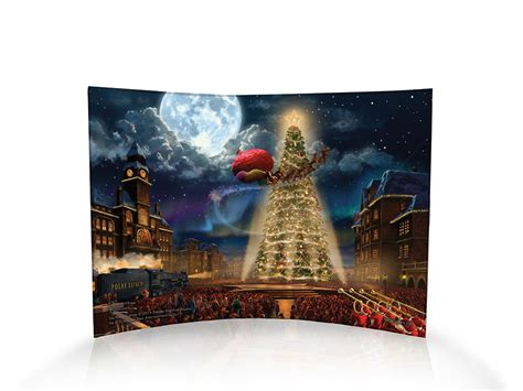 Thomas Kinkade Studios (The Polar Express) Curved Acrylic