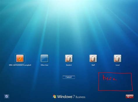 How can one add an image to the windows 7  screen