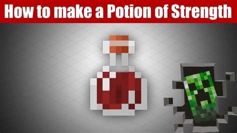Minecraft Brewing - How to make a Potion of Strength I