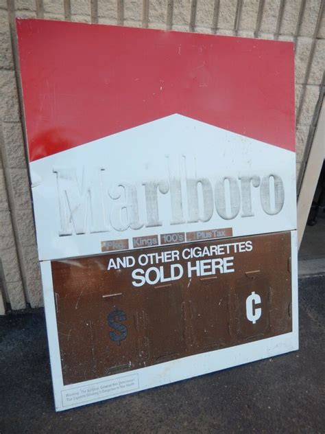 very large DOUBLE SIDED vintage retail Marlboro price sign