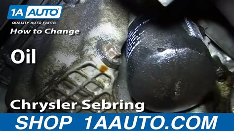 How to Change Oil 2001-06 Chrysler Sebring 2