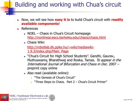 PPT - Chua's Circuit: The Paradigm for Generating Chaotic