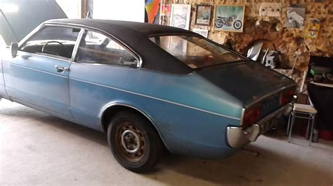 Ford Consul L coupé 1973 - Engine start - YouTube