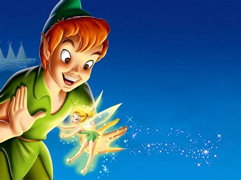Peter Pan And Tinkerbell Desktop Hd Wallpapers For Mobile