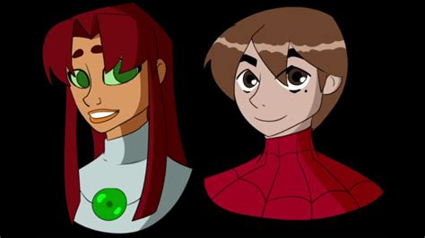 Spider man fan and raven and spider man and starfire - YouTube